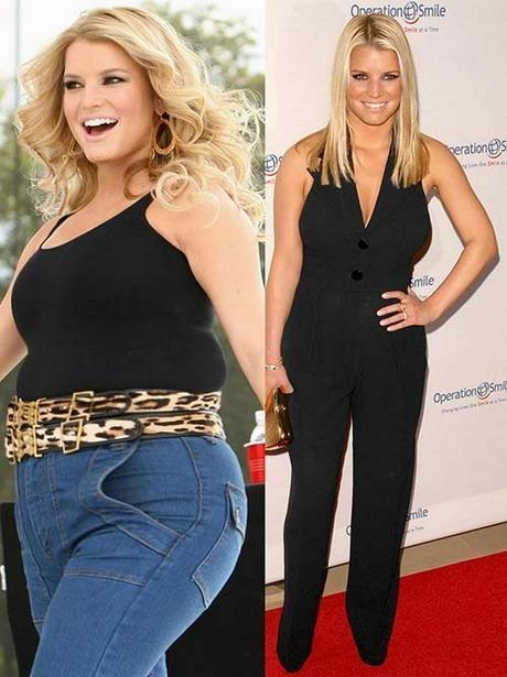 fogyókúrás hírességek előtte és utána