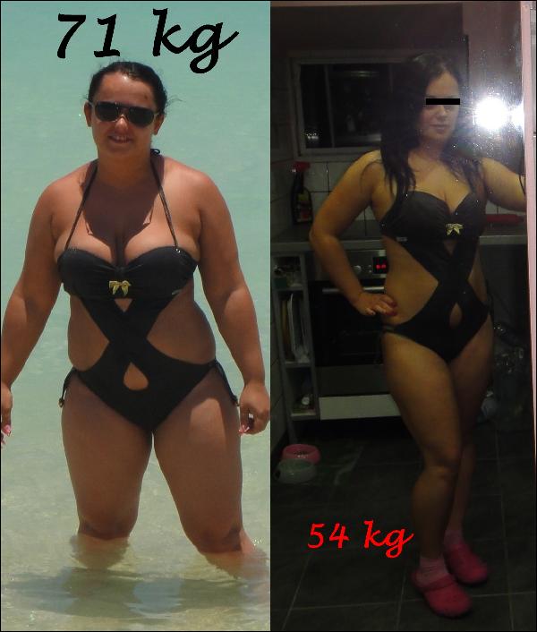 hat hónapos fogyás előtte és utána