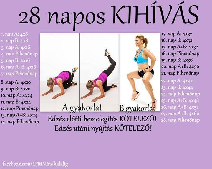 12 napos fogyás kihívás