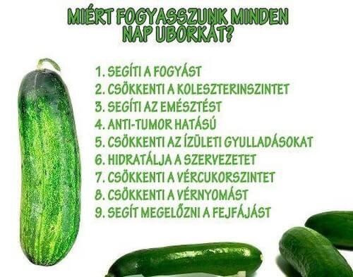 az uborka fogyás előnyei
