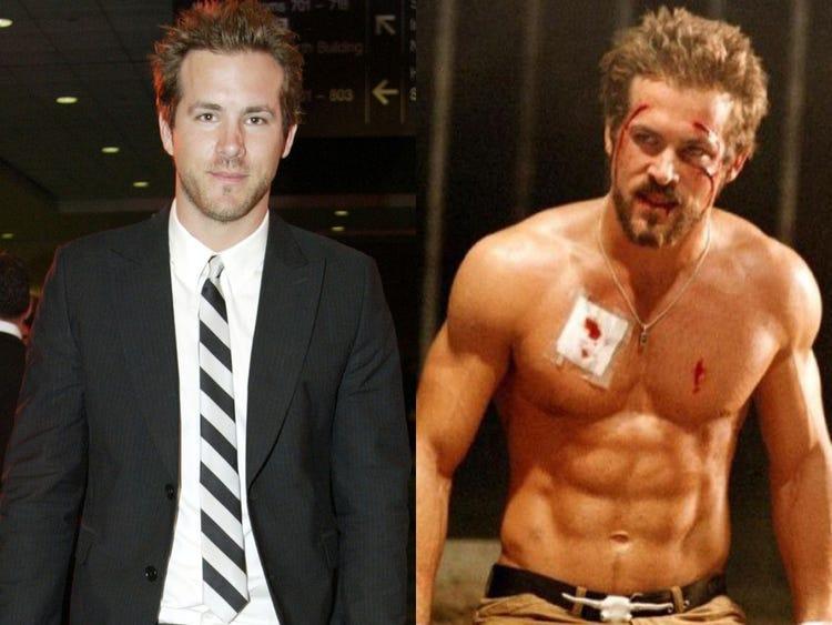 hogyan fogyott le Ryan Reynolds