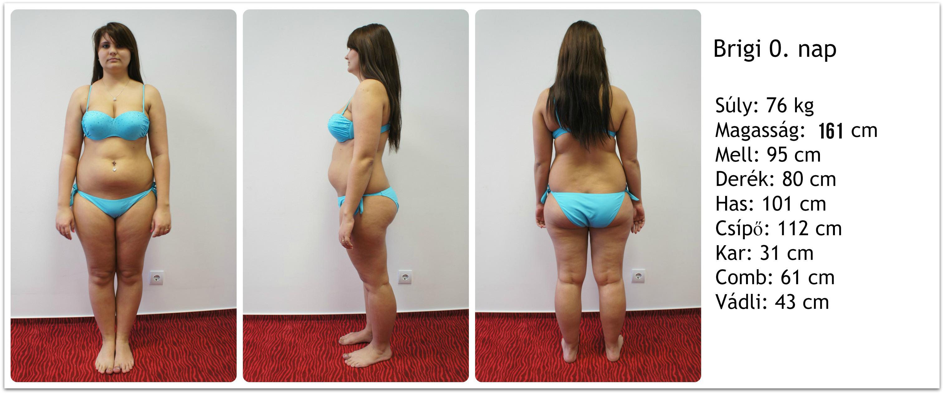 mérsékelt fogyás előtt és után zsírvesztés turmix
