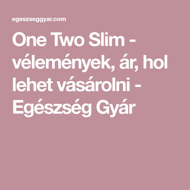 One Two Slim – összetétel, vélemények, hogyan működik? Rendelés Amazon vagy az eBay